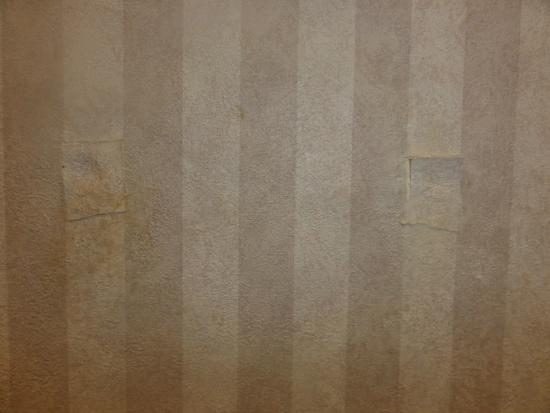 Comfort Inn Tucson: wallpaper patches in bathroom