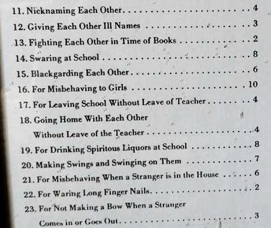 Person County Museum of History: school punishment lashes