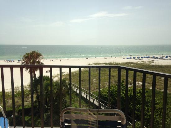 Gulf Beach Resort: View from gulf view balcony (looking forward) unit 504. So beautiful!!