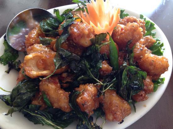 Crispy fried squid picture of thai square restaurant for Arlington thai cuisine