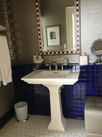 The Ashton Hotel Pedestal Sink In Bathroom Makeup Ottoman With No