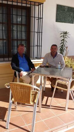 Hotel Carlos Astorga: con el grande director