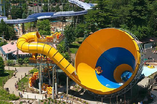 The Great Escape and Splashwater Kingdom: will drop you from a tunnel and you go up on the walls in a big tube