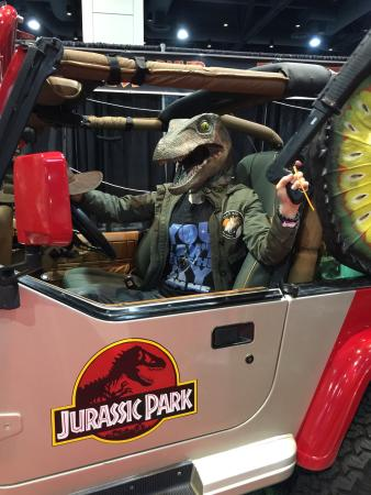 Raleigh Convention Center : Raleigh Comic Con Jurassic Park Booth!
