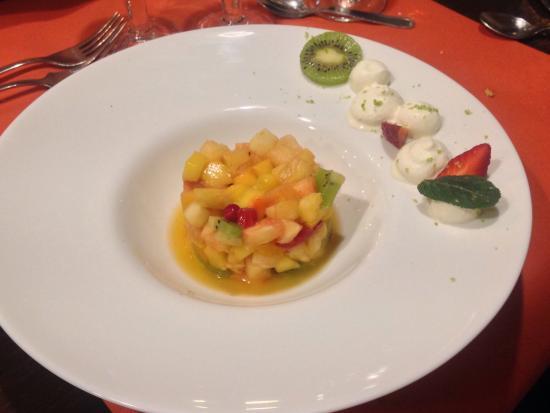 La Ferme de Conde: Fruits frais parfumé menthe