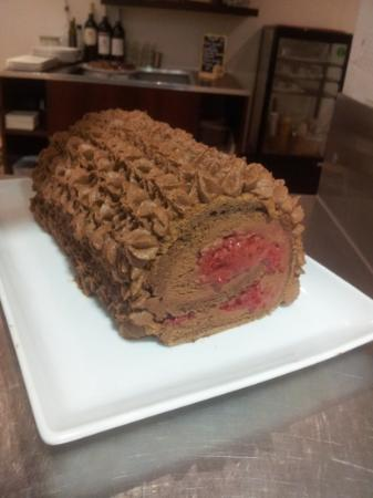 L'Atelier du dejeuner : buche de noel choco framboise