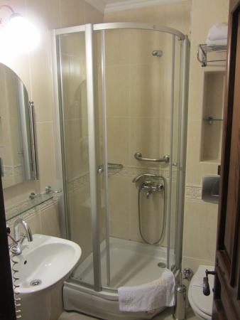 Dersaadet Hotel Istanbul: Bathroom shower in double room