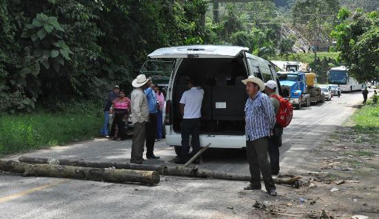 Agua Azul: Road Blocks on Mexican Highway 199