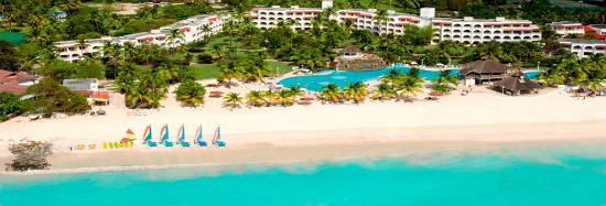 Bolans, Antigua: Jolly Beach Resort - Aerial