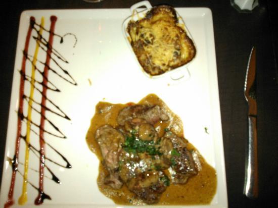 Bagnoles Hotel : Lamb fillet and calves kidneys