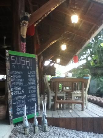 Open Air Restaurant at Funky Monkey Lodge