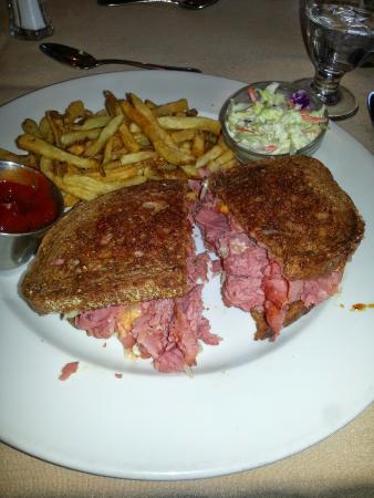 Bailey's Restaurant & Bar: A very tasty Ruben sandwich worth waiting for.