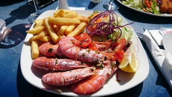 Luzzu Restaurant: amazing prawns