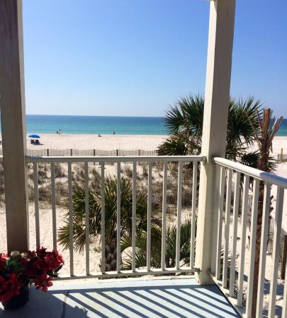 Sunchase in Gulf Shores, Al Beachfront View from Balcony in March 2015. Cute 2 bedroom 1 bath c