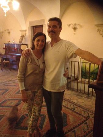 Casa Vacanza Piantamori : Owners Luigi and Christine and dog Chloe
