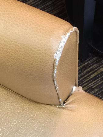 Extended Stay America - Seattle - Mukilteo : Lobby Chair needs attention or replacement.