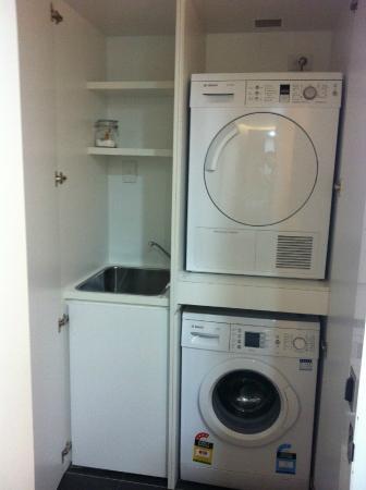 Ovolo Nishi In Apartment Laundry Hidden Behind Hallway Doors