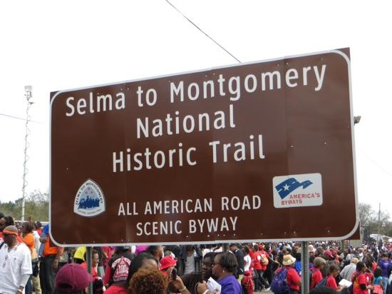 Selma to Montgomery Highway: Signage