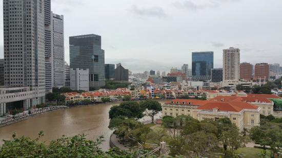 The Fullerton Hotel Singapore River View From Room