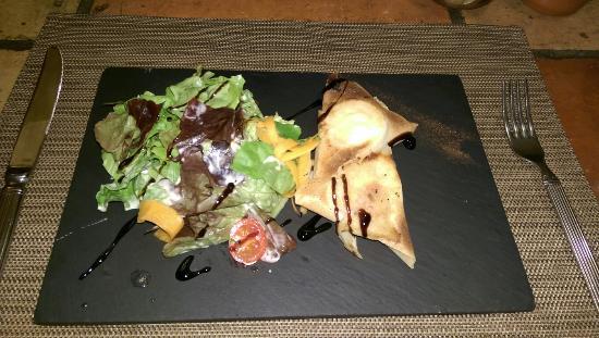 Le Campagnol: Brick de chèvre et sa salade!😊