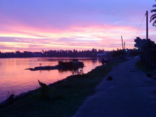 Moratuwa, Srí Lanka: Bolgoda river view....