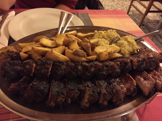 Grotto del Pep : Puntine con patate e polenta