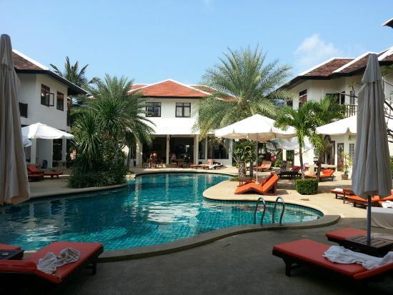Dreams Villa Resort: Бассейн у крыльца