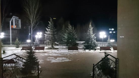 Hotel Russia : A midnight view from the main entrance of the hotel.
