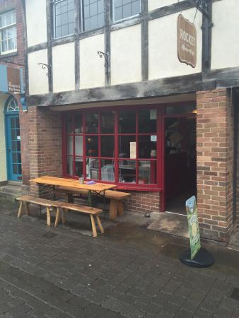 Rocket: A lovely Black & White cafe in Church Street.