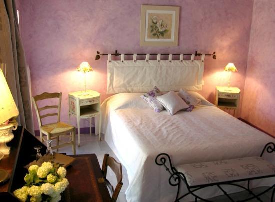 Domaine de Montizeau Moncay : chambre parme