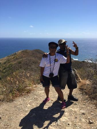 Tan Tan Tours: Mom and myself @Eastern most point;200m above sea level