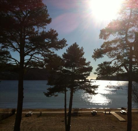 Rosfjord Strandhotell : Utsikt fra egen terrasse på hotellet :))