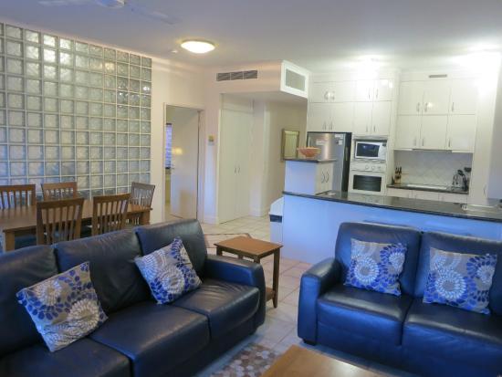 Mirra Chana Apartments - on the Spit Mooloolaba: Spacious kitchen.