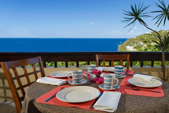 Villa Capri: Dining terasse