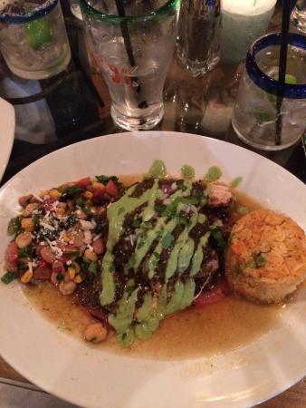El Sol Mexican Restaurant : Azleca Stuffed Portabella with Mahi Mahi