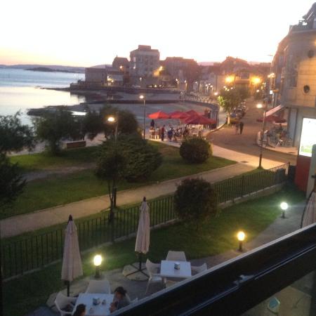 Hotel Carril: prachtig uitzicht vanuit de kamer op het strand van Carril