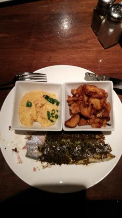 Harvey, LA: Pesto/potato encrusted Trout.
