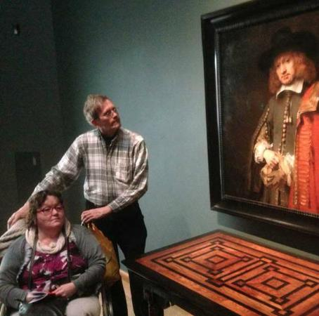 Drs. Kees Kaldenbach - VIP Private Art Day Tours: Wheelchair help in the Rijksmuseum, with Jan Six.