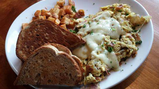 Front Street Grill : San Danielle scramble. Prosciutto and perfectly melted swiss cheese.