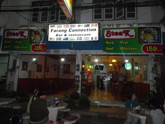 Outside Farang Connection.