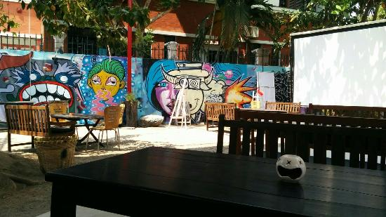 Saigon Outcast: Such a cool place to hang out and they have a great cider menu!