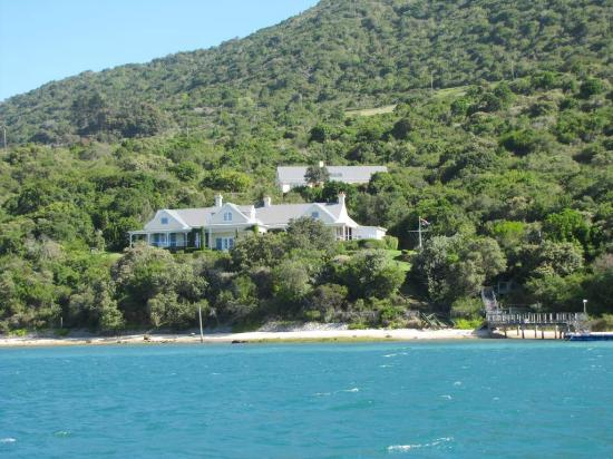 Knysna, Sydafrika: Most remote houses on the west side