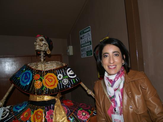 Mexican Food Tours: Our guide beside Katrina at one of the food stops.