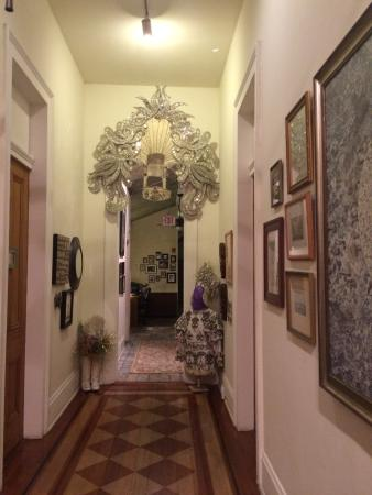 Auld Sweet Olive Bed and Breakfast: Mardi Gras costume in the grand hallway