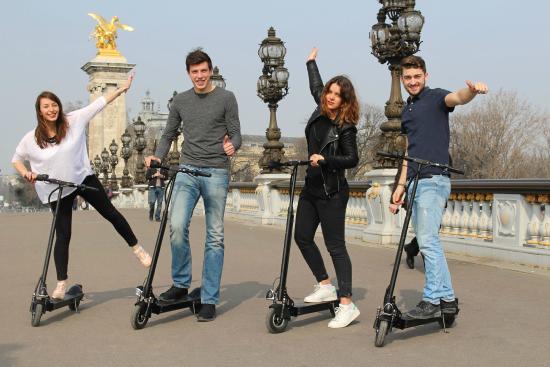 Scooter Rental Paris >> Discovering Paris By Electric Scooter Picture Of Rent Go Paris
