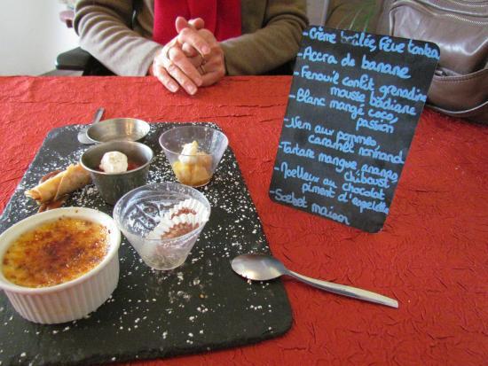 La Malle aux Epices : L'assiette de dessert du menu découverte