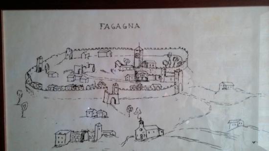Ristorante San Michele: Vecchia vista prospettica di Fagagna