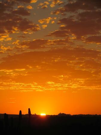 Addo Afrique Estate: Sunrise from the balcony