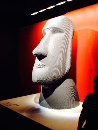 Ben Franklin National Memorial: LEGO Easter Island