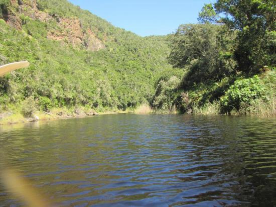 Wilderness, Südafrika: Towards the end of the canoeing and beginning of the trail